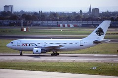 3B-STJ A310 Middle East airlines LHR 26-10-99