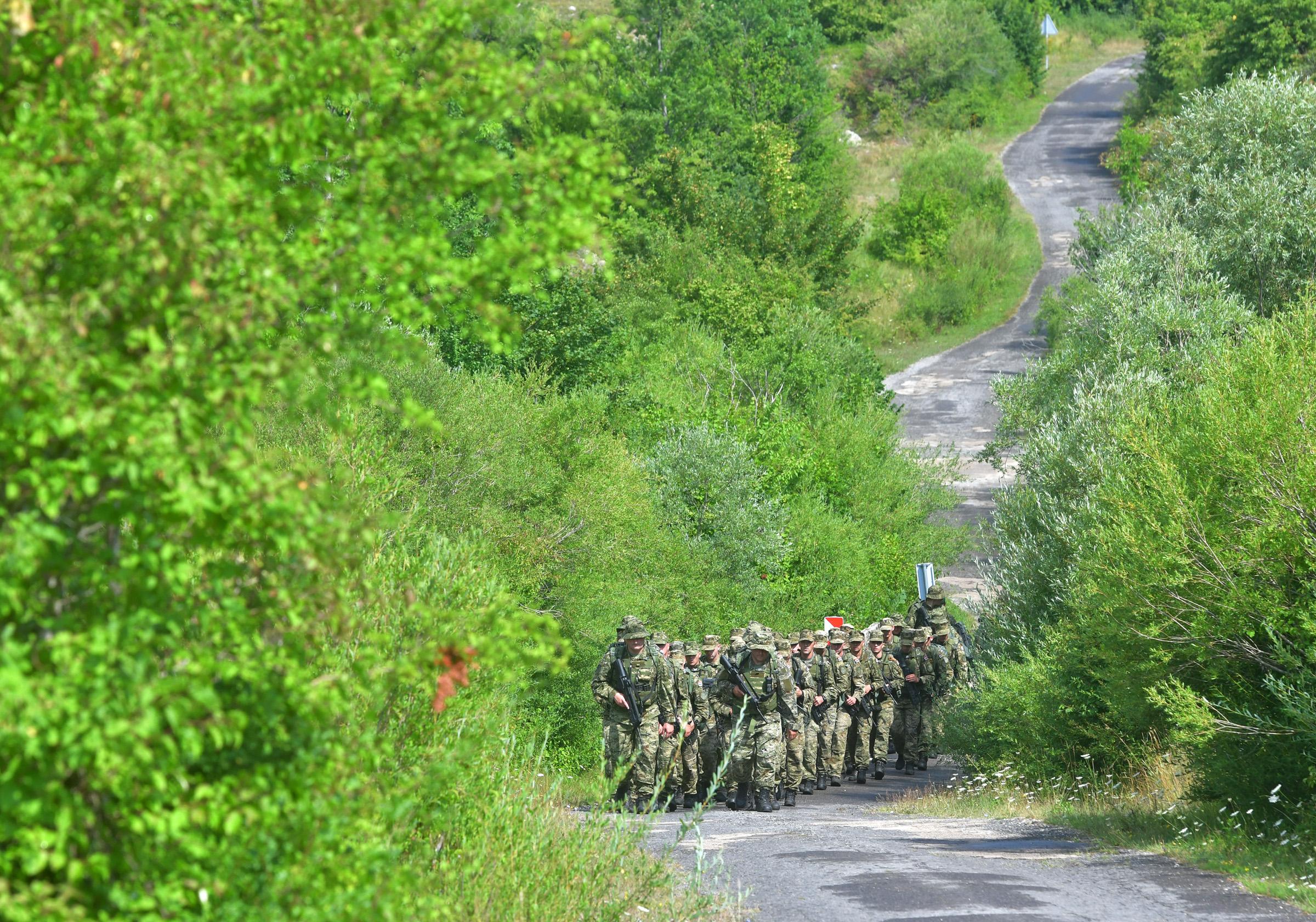 Polaznici hodnje prošli trećinu puta do Knina