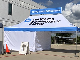 Drive-thru testing tent A