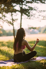Meditating in the nature