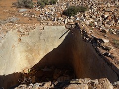 Gordon a ghost town on the Willochra Plains in the Flinders Ranges. The remains of an underground water tank.