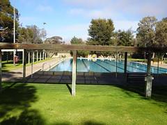 Leigh Creek former brown coal mining town in the Flinders Ranges. Now the swimming pool is under utilised.