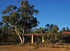 Leigh Creek in the Flinders Ranges. Rail bridge near the town. Built in 1957 to cart brown coal to power station at Port Augusta.