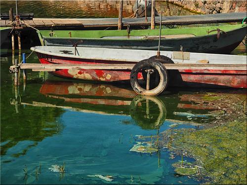 Fishing boats on Passader Lake in Holstein