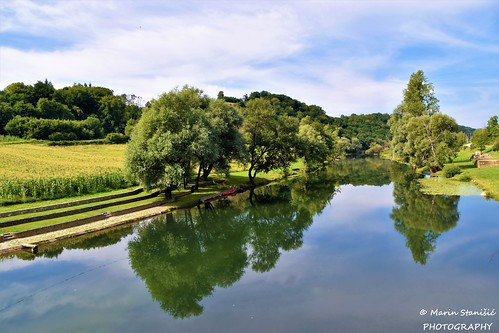 Barilović, Croatia - River beach on river Mrežnica (without swimmers)...