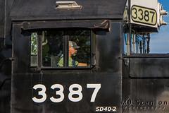 NS 3387   EMD SD40-2   NS Memphis District West End