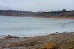 Fog rises from Roush Lake