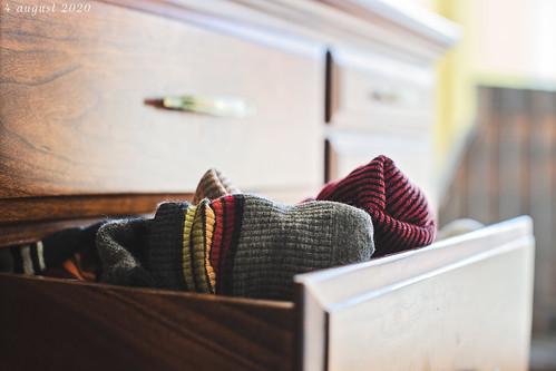 sock drawer ajar... children or husband?