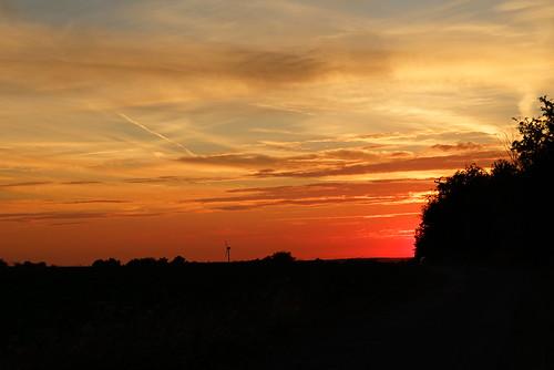 Sonnenuntergang über Orsbach