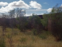 Farina ghost town in the Flinders Ranges. This is the old railway bridge as seen from below in the creek bed. The Great Northern Railway to Farina reached here in 1882.