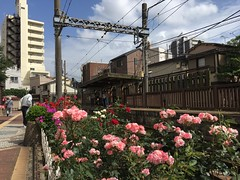 Minowabashi Station in Minamisenju, Arakawa-ku