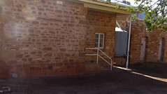 Blinman old copper mining town of the Flinders Ranges. This old sandstone Police Station with the cells behind was built in 1874. Long since closed as a police station.