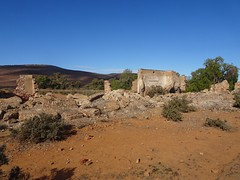 Wonoka in the Flinders Ranges. The remains of the railway station and rail worker's barracks. Near Hawker. Railway reached here in May 1882. .