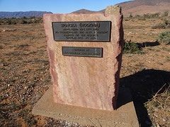 Wonoka in the Flinders Ranges near Hawker. The memorial cairn to the pioneers of the town and district where they once grew wheat.