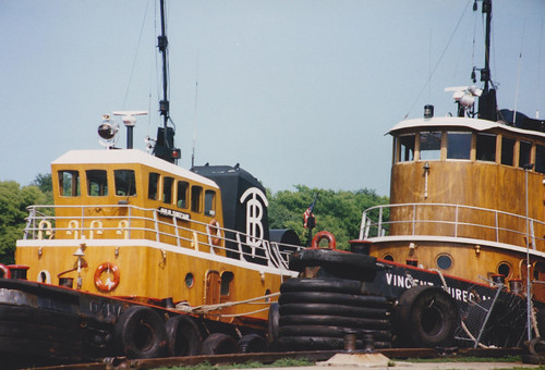 21st August 1995, Tugboats, Philip and Vincent Turecamo on the Savannah River, Savannah, Georgia, USA