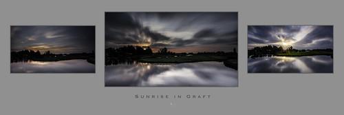 Sunrise in Graft, a triptych