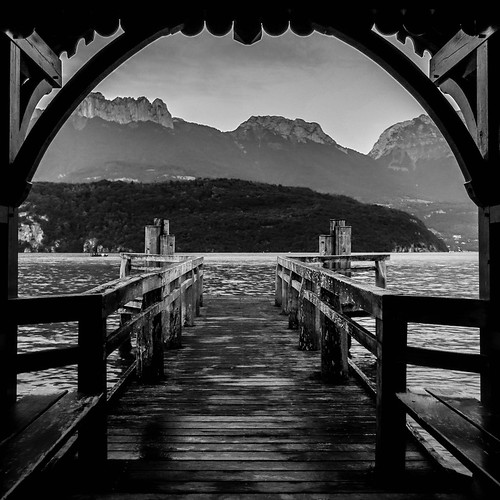 Au bout du chemin ... sur le lac d'Annecy