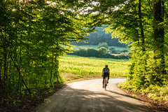 Cycling at golden hour