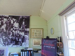 Blinman in the Flinders Ranges. The interior of the galvanised iron Methodist Church erected around 1874. It closed around 1943 and became the libary. Now it is the information centre with new external cladding.