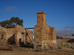 Copley in the Flinders Ranges. An old stone house in the town is now in ruins.