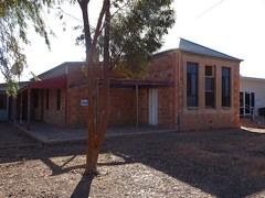 Copley in the Flinders Ranges. The Leigh Creek School opened before 1900. Its name was changed to Copley School in 1916 around the time when  this stone school was built.