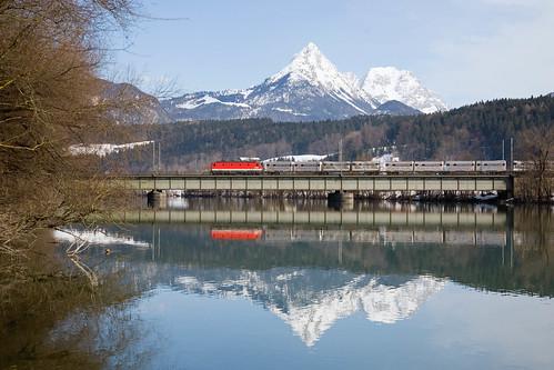 ÖBB 1144 + goederentrein/Güterzug/freight train  - Bichlwang