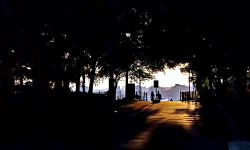 Step into the light - Hudson River Park, New York City
