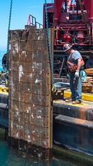 Sliding a repair panel