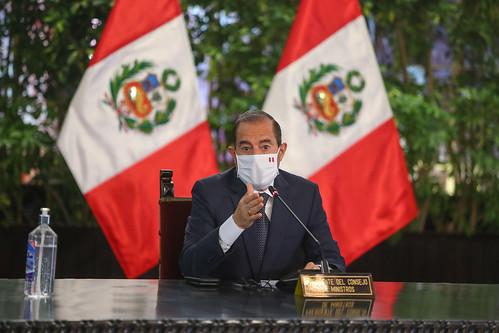 El presidente de la República, Martín Vizcarra, emiitió un pronunciamiento antes de iniciar una nueva sesión de Consejo de Ministros junto al nuevo gabinete.