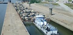 M/V Jinx P. Smith locks through Olmsted Locks and Dam