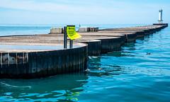 Lorain Harbor breakwater