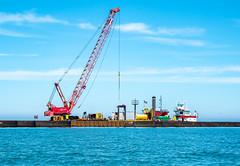Lorain Harbor breakwater repair project