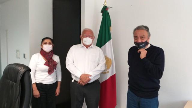 Photo:20200805_cofepris-dr-jose-alonso-novelo-baeza-maestra-elvira-espinosa-gutierrez-femexer-david-pena_5 By FEMEXER