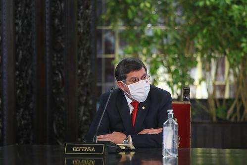 El presidente de la República, Martín Vizcarra, emitió un pronunciamiento antes de iniciar una nueva sesion de Consejo de Ministros junto al nuevo gabinete.