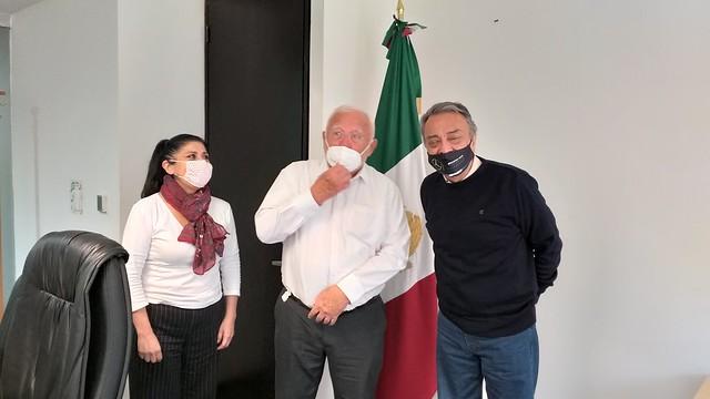 Photo:20200805_cofepris-dr-jose-alonso-novelo-baeza-maestra-elvira-espinosa-gutierrez-femexer-david-pena_4 By FEMEXER