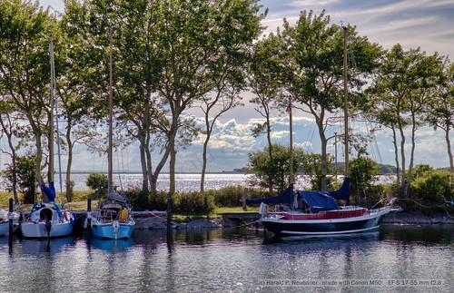 Shadows in the harbor - Orth, Fehmarn