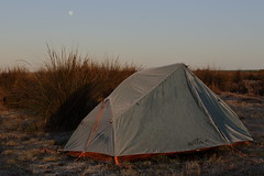 Tent and Moon