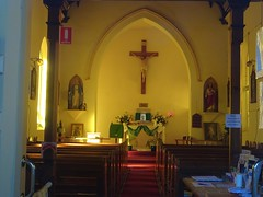 Quorn. In the Flinders Ranges. The interior of the Catholic Church. Built in 1883.