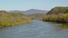 View of James River from Harry Flood Byrd Bridge