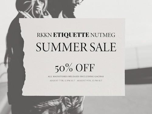 50% off at RKKN/Etiquette/Nutmeg