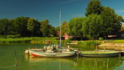 Small harbor on  Lake Passade