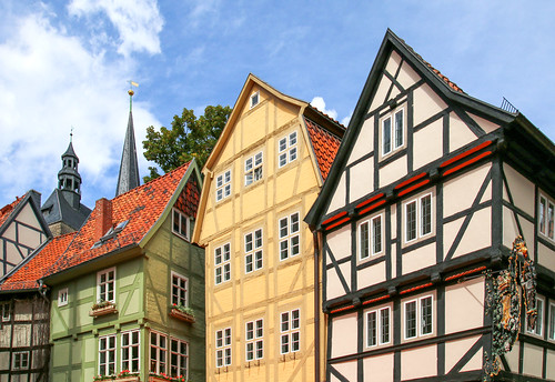 In the old town of Quedlinburg, Germany (Unesco world heritage)