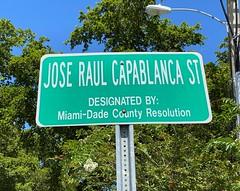 Jose Raul Capablanca Street Sign West Miami