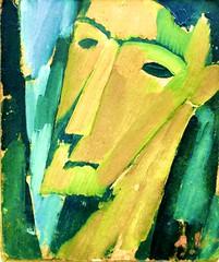 Thin race [Head] (c.1915) - Amadeo de Souza-Cardoso (1897-1918)