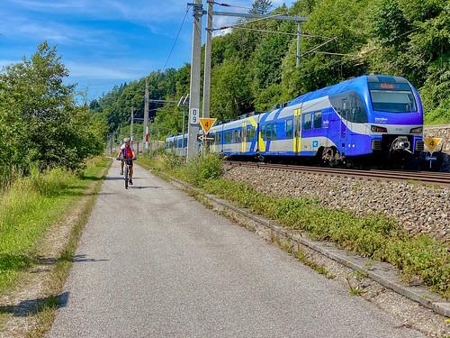 Meridian regional express train versus bicyclist near Kufstein in Tyrol, Austria