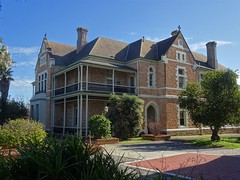 North Adelaide. The Presbytery for St Laurence's Catholic Church and Priory.The church was completed in 1868. This building was probably built around 1885 to 1890.