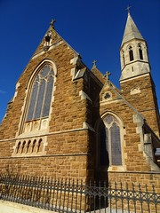 North Adelaide. The Chapel of St Dominic's Priory. Opened in 1893. Now the Chapel of a Catholic Girls College. Architect was  William Tappin who used sketches of their mother Priory in Staffordshire which was design by A. Putin.,