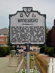 Waynesboro, Virginia historical marker [02]