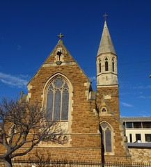 North Adelaide. The Chapel of St Dominic's Priory. Opened in 1893. Now the Chapel of a Catholic Girls College. Architect was  William Tappin who used sketches of their mother Priory in Staffordshire which was design by A.W.N. Putin.,