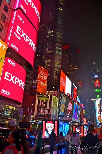 Times Square at Night Manhattan New York City NY P00613 DSC_9285